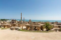 Ruínas de Carthage Fotografia de Stock Royalty Free