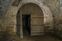 Ruínas internas do castelo Fotos de Stock