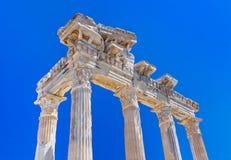 Ruínas velhas no lado, Turquia Fotografia de Stock Royalty Free