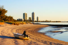 Runaway Bay Gold Coast Australia. View of Runaway Bay on the Gold Coast in Australia from the Broadwater at sunrise Royalty Free Stock Image