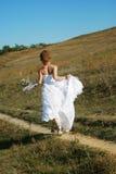 Runaway bride Stock Image
