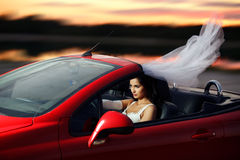 Runaway bride Royalty Free Stock Photography