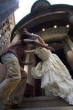 Runaway bride. Wall street , manhattan Stock Photos