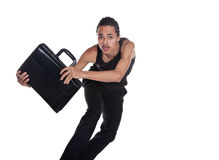 Runaway briefcase Royalty Free Stock Images