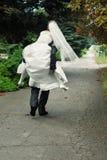 Runaway groom Royalty Free Stock Images