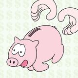 Runaway Piggy Bank Stock Images