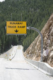 Runaway Truck Ramp sign Stock Photo