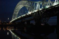 Runcorn-Brücke pano Stockfotos