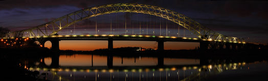 Runcorn Bridge pano Stock Images