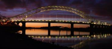 Runcorn bro Arkivbild