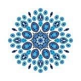 Rund bakgrund Orientalisk modellillustration Julmandala Royaltyfria Foton