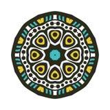 Rund bakgrund Orientalisk modellillustration Stor knopp för kalejdoskop Royaltyfria Foton