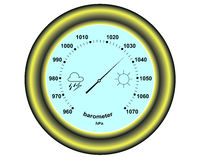 Rund barometer vektor illustrationer
