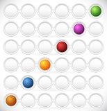 Rund beståndsdel för processflödesdiagram Färg kodifierade moment, fas, P Arkivbilder