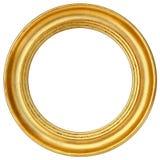 Rund bildram för guld Royaltyfri Bild
