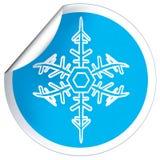 rund blå etikett Fotografering för Bildbyråer