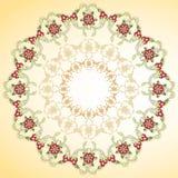 Rund blom- bakgrund stock illustrationer