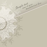 Rund blom- prydnad stock illustrationer