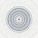 Rund blommatappningmandala Arkivfoto