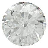 Rund briljant diamant Arkivfoto