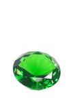 rund briljant smaragd royaltyfria foton