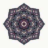 rund dekorativ prydnad Mång- färgmandala för vektor Arkivbild