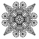 Rund dekorativ prydnadbeståndsdel mandala royaltyfri illustrationer