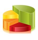 rund diagramvektor stock illustrationer