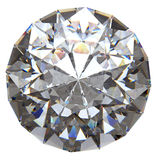 Rund diamant från den isolerade övre sidan Arkivbilder