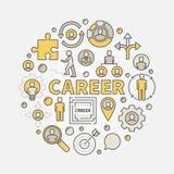 Rund färgrik illustration för karriär vektor illustrationer