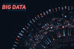Rund färgrik visualization för stora data Futuristiskt infographic Estetisk design för information Visuell datakomplexitet Arkivfoton