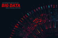 Rund färgrik visualization för stora data Futuristiskt infographic Estetisk design för information Visuell datakomplexitet Royaltyfria Foton