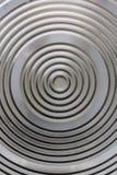 Rund flott aluminium yttersida arkivbilder