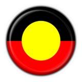 rund form för aboriginal australiensisk knappflagga Royaltyfri Bild