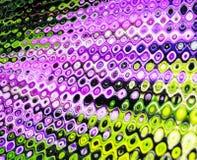 Rund fractal av purpurfärgat och grönt royaltyfria foton