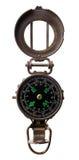 Rund gammal kompass Royaltyfri Foto