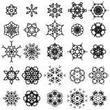 Rund geometrisk prydnaduppsättning Royaltyfri Fotografi