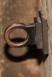 Rund hållare som göras av mässing Arkivfoton