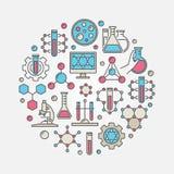 Rund illustration för kemikalie royaltyfri illustrationer