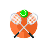 Rund klistermärke för tennis Royaltyfri Foto