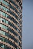 Rund kontorsbyggnad i Chongquin, Kina arkivbilder