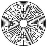 Rund labyrint Royaltyfria Foton
