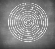 Rund labyrint Royaltyfri Bild
