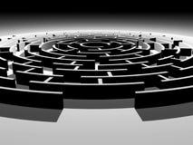 Rund labyrint 3d Stock Illustrationer