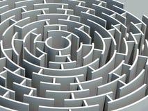 Rund labyrint 3d Royaltyfri Fotografi