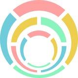 rund logo Arkivfoto