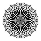 Rund mandala för att färga på vit bakgrund royaltyfri illustrationer