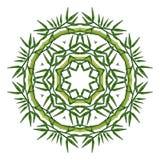 Rund mandala för blom- prydnad som isoleras på vit vektor illustrationer