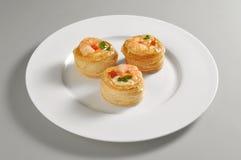 Rund maträtt med vol-aulufthålet Royaltyfria Foton