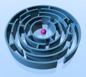 rund maze Arkivfoto
